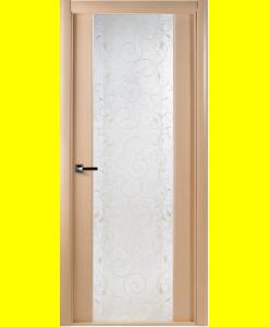 Межкомнатные двери Грандекс 202 дуб беленый кристалайз