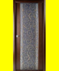 Межкомнатные двери Грандекс 202 венге кристалайз