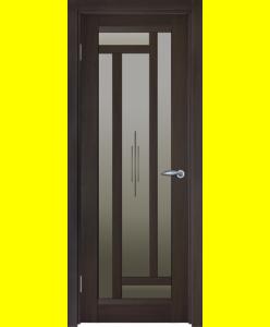 Межкомнатные двери Милан витраж венге