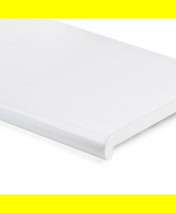 Подоконник Белый глянец закругленный Plastolit 150 мм