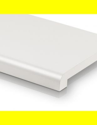 Подоконник Платиново Белый матовый закругленный Ganz 150 мм