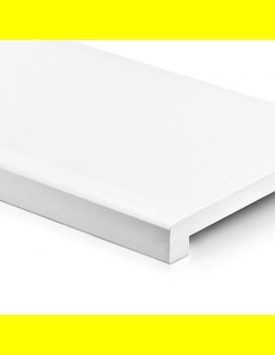 Подоконник Платиновий Белый матовый прямой Ganz 150 мм