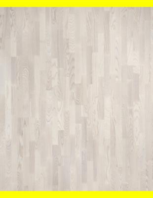 Паркетная доска Polarwood Ясень LIVING белый мат