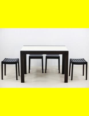 Обеденный комплект Фаворит-03 стекло,стулья 1т