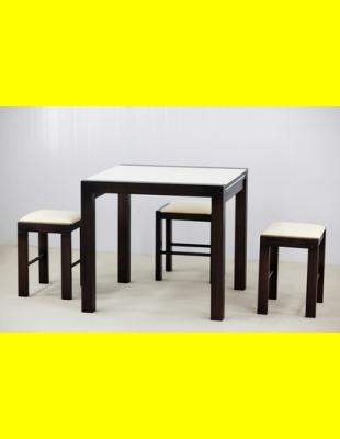 Обеденный комплект Фаворит-03 камень,стулья 2м
