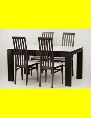 Обеденный комплект Мілан стекло,стулья 6м