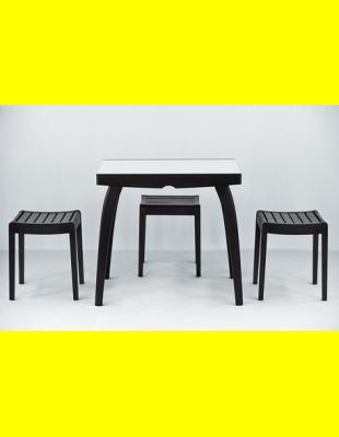 Обеденный комплект Фаворит-02 стекло,стулья 1т
