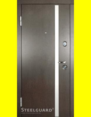 Входные двери недорого AV-1 Венге тем./бел.