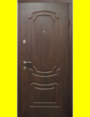 Входные двери недорого VIP Классика темный орех